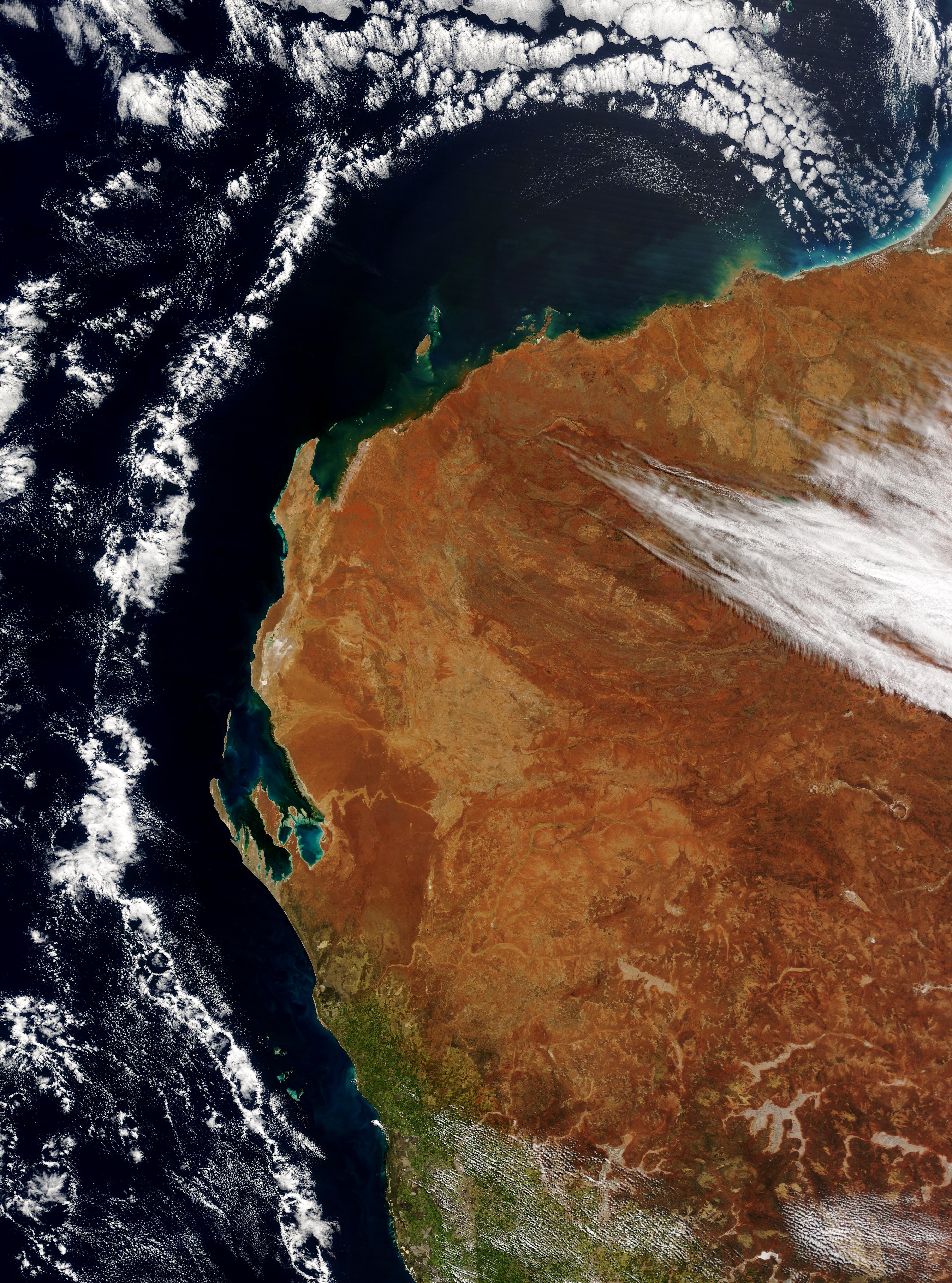 Cloud ring off Australian West Coast