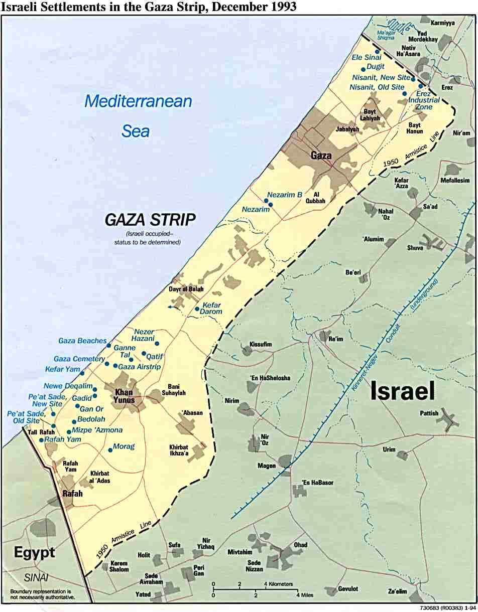 Asentamientos Israelíes de la Franja de Gaza