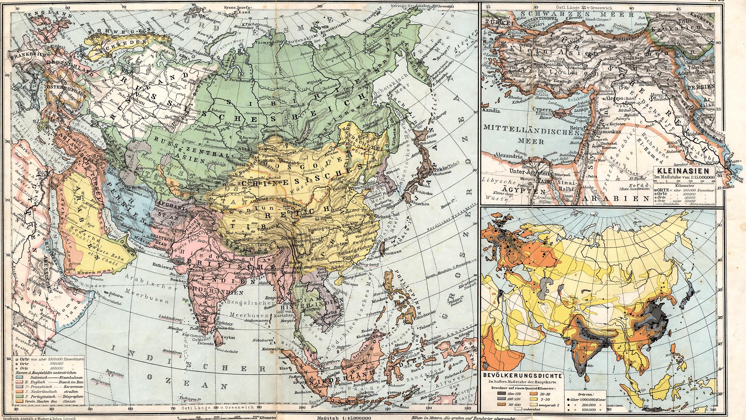 Asia en 1905