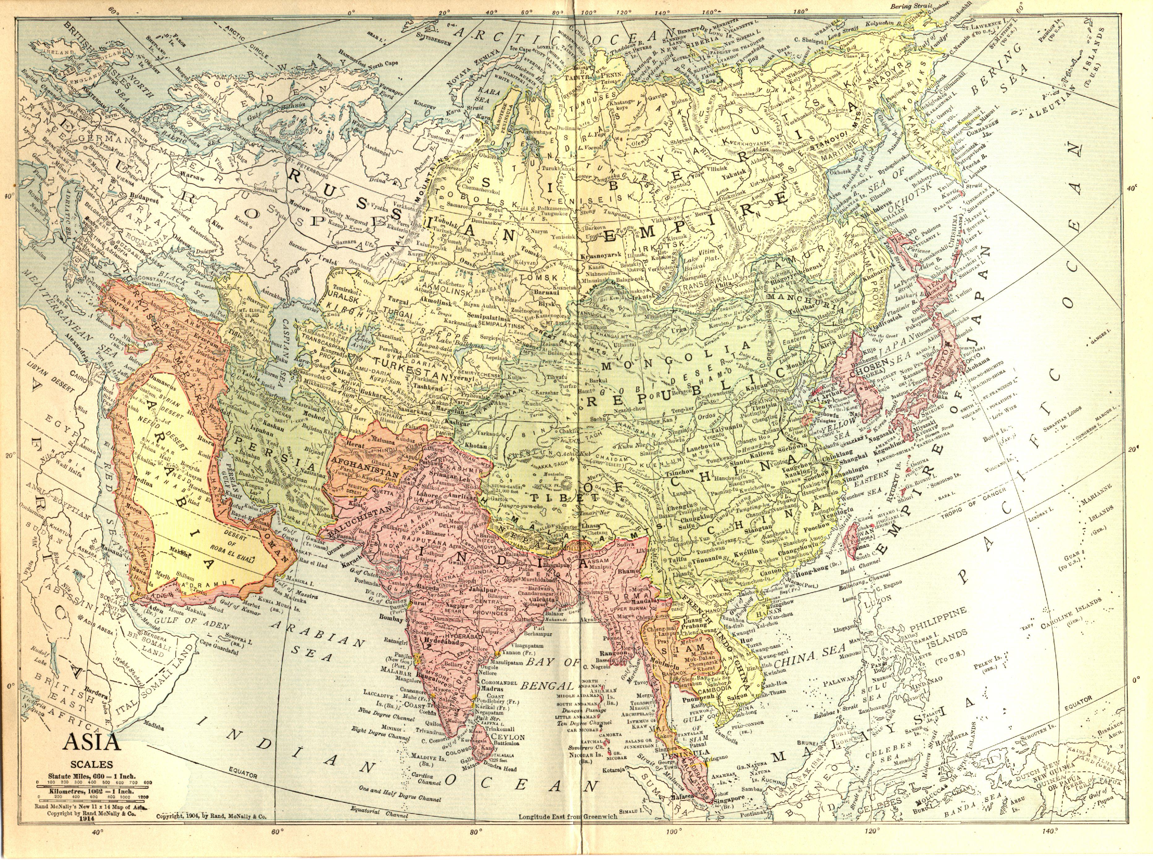 Asia en 1914