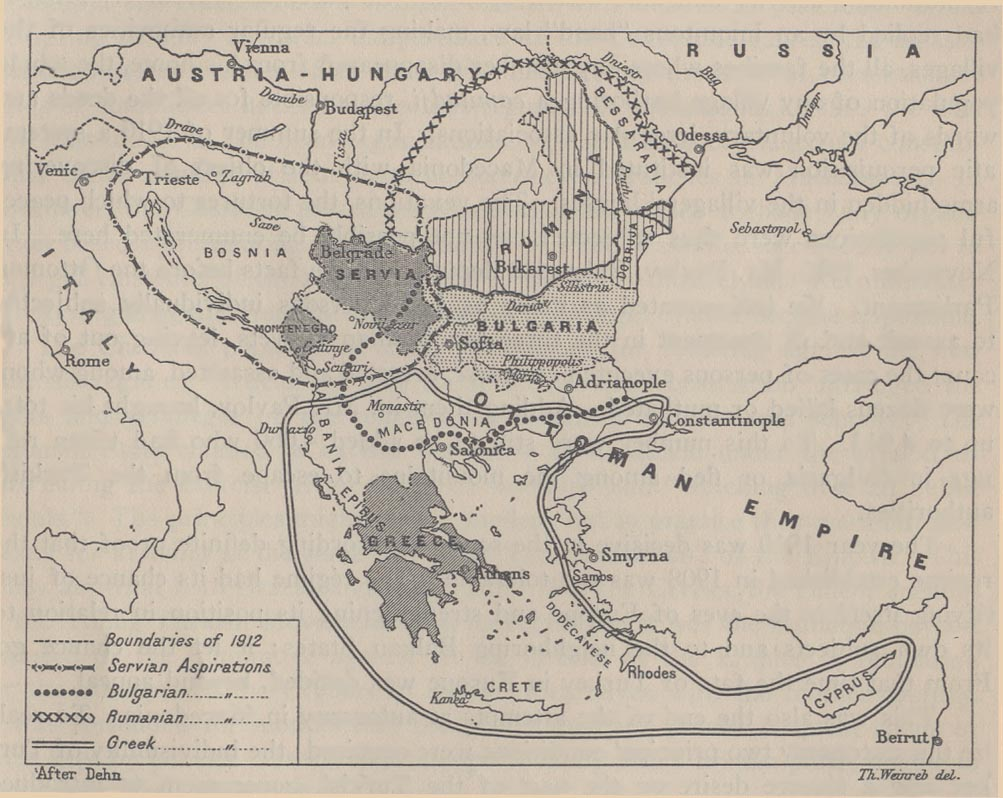 Balkans Historical Aspirations Map 1912