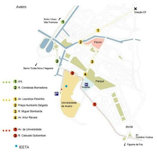 Aveiro Map, Portugal