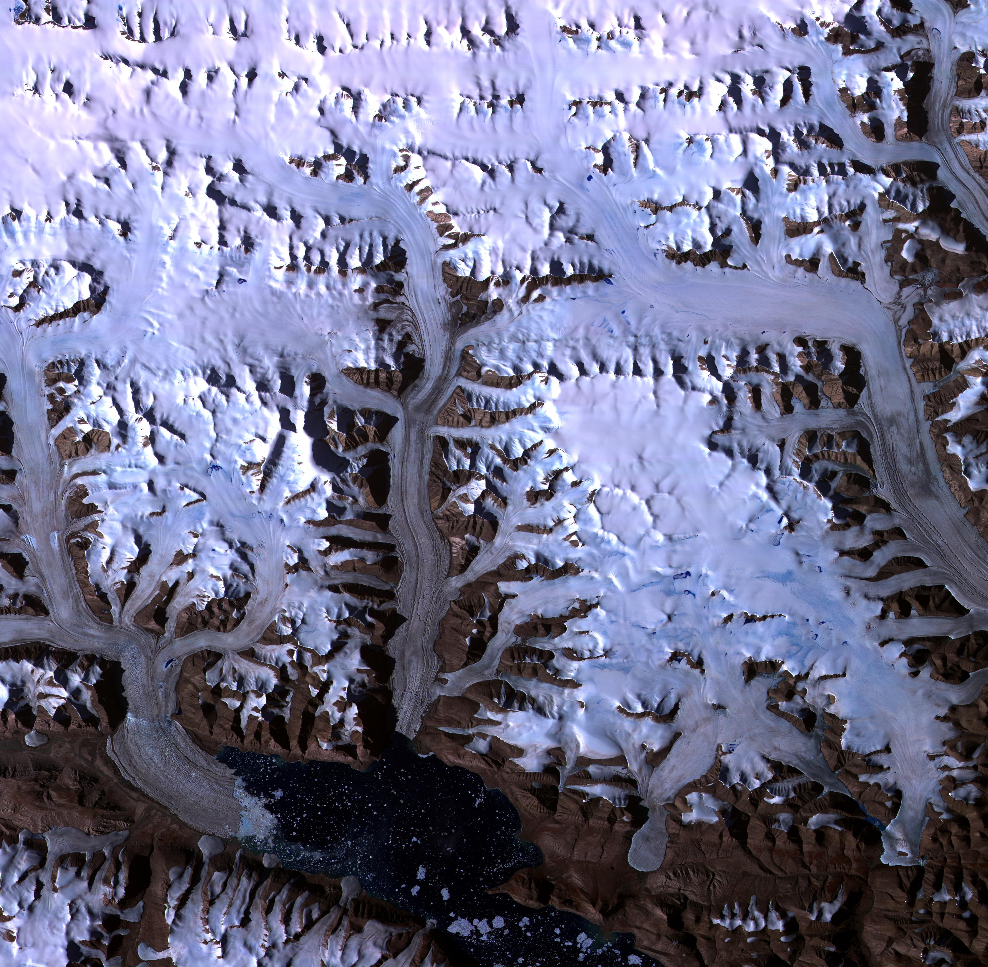 Bahía de Dobbin en el ártico canadiense