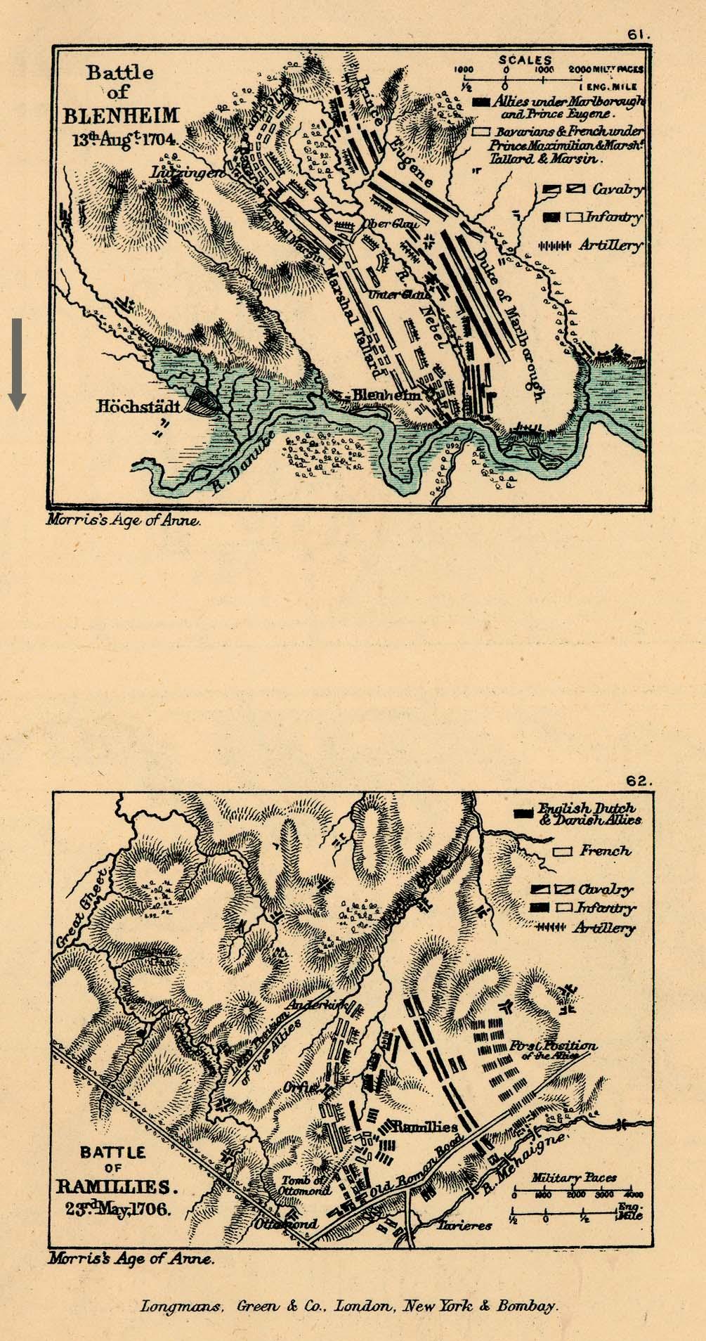 Batallas de Höchstädt y Ramillies 1704 - 1706