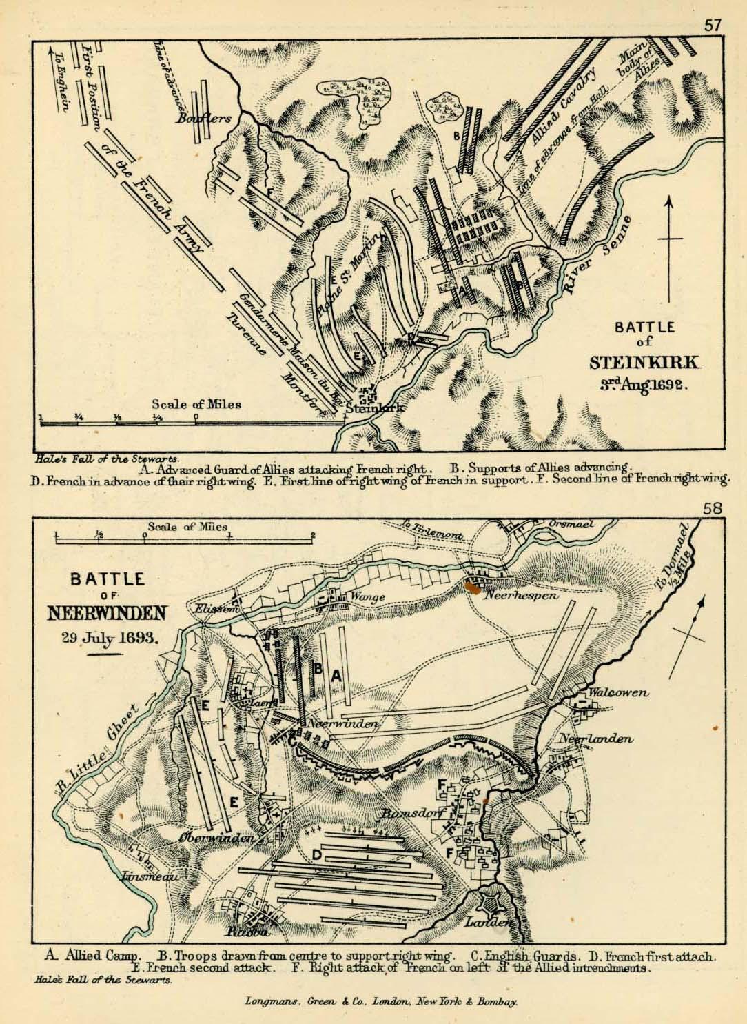 Batallas de Steenkerque y Neerwinden 1692 - 1693