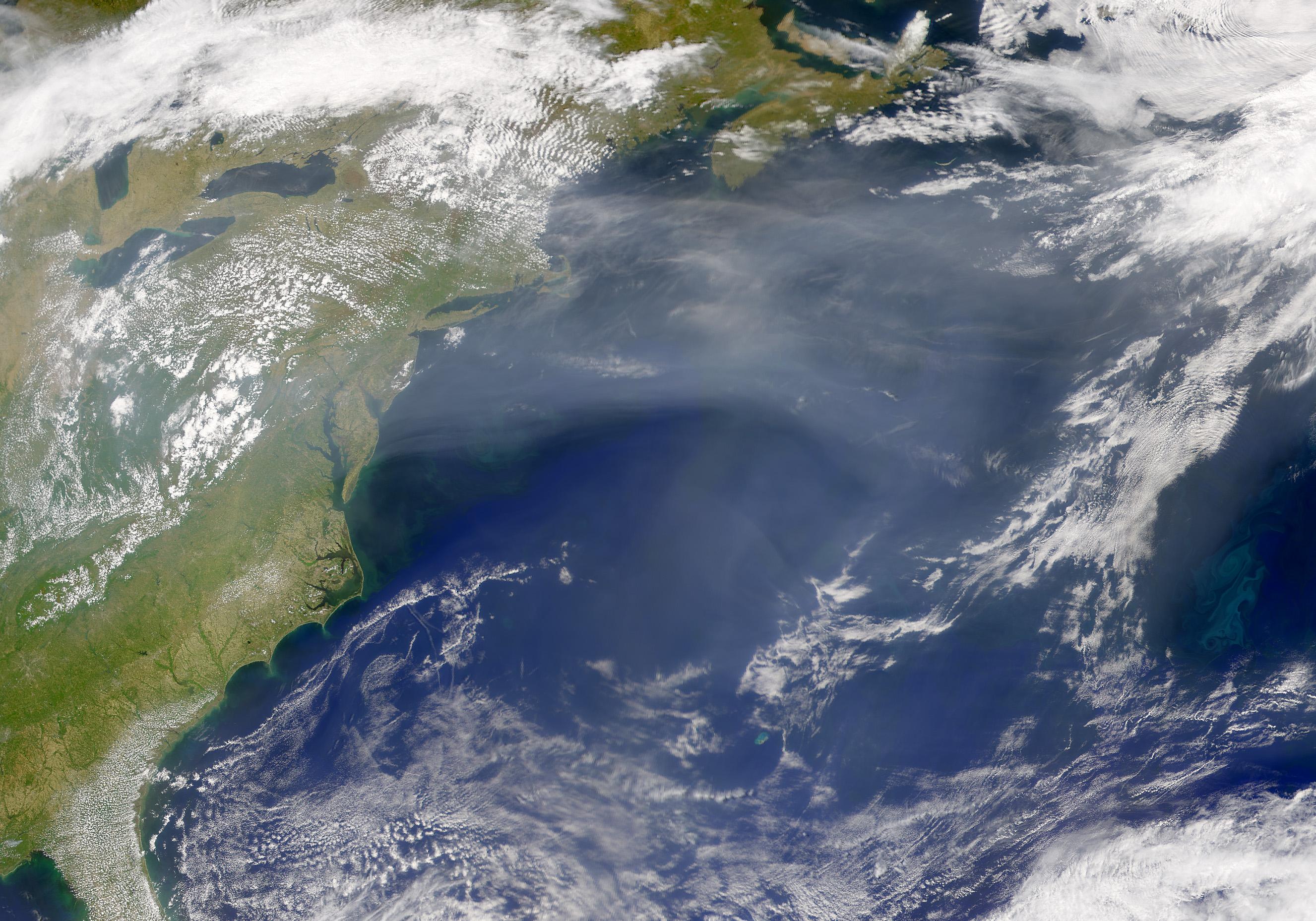 Calima encima del Atlántico norte