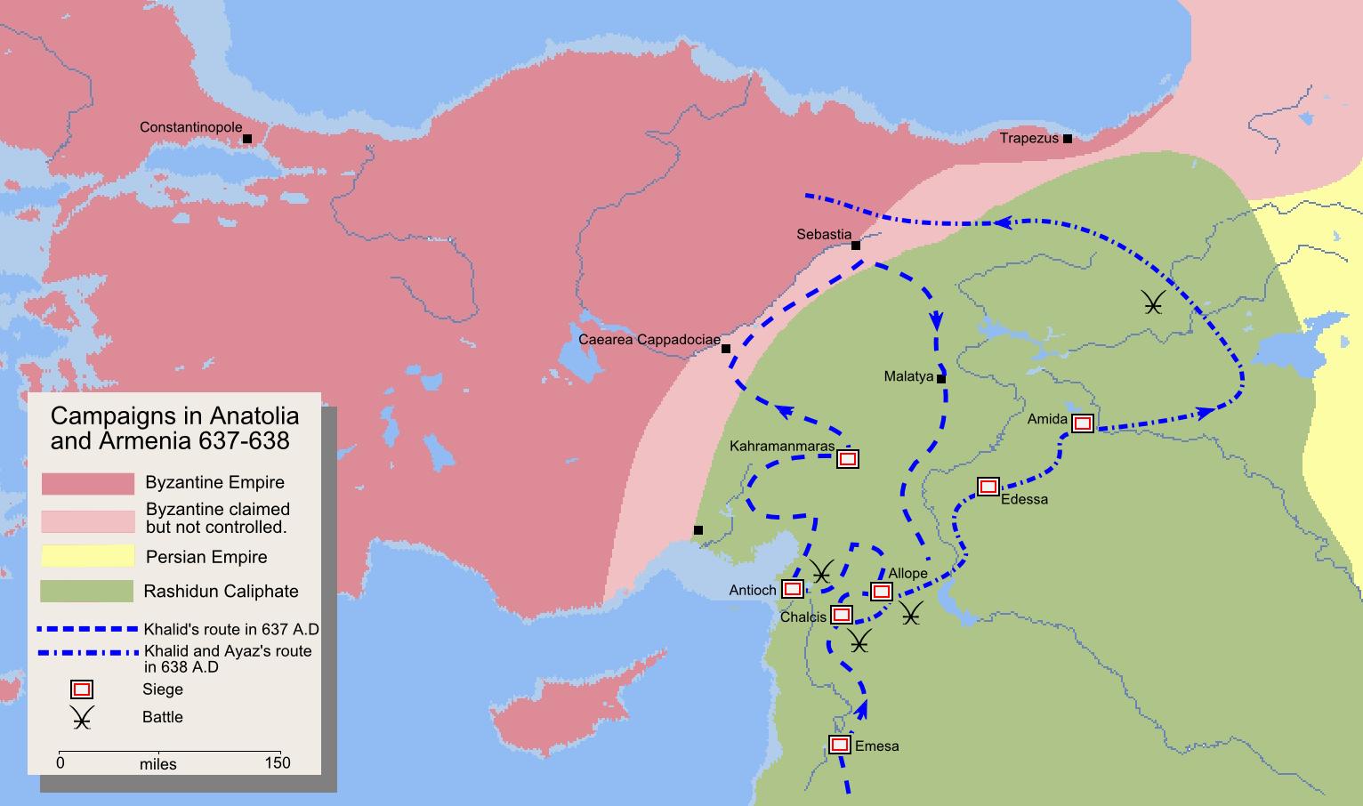 Campaigns in Anatolia and Armenia 637-638