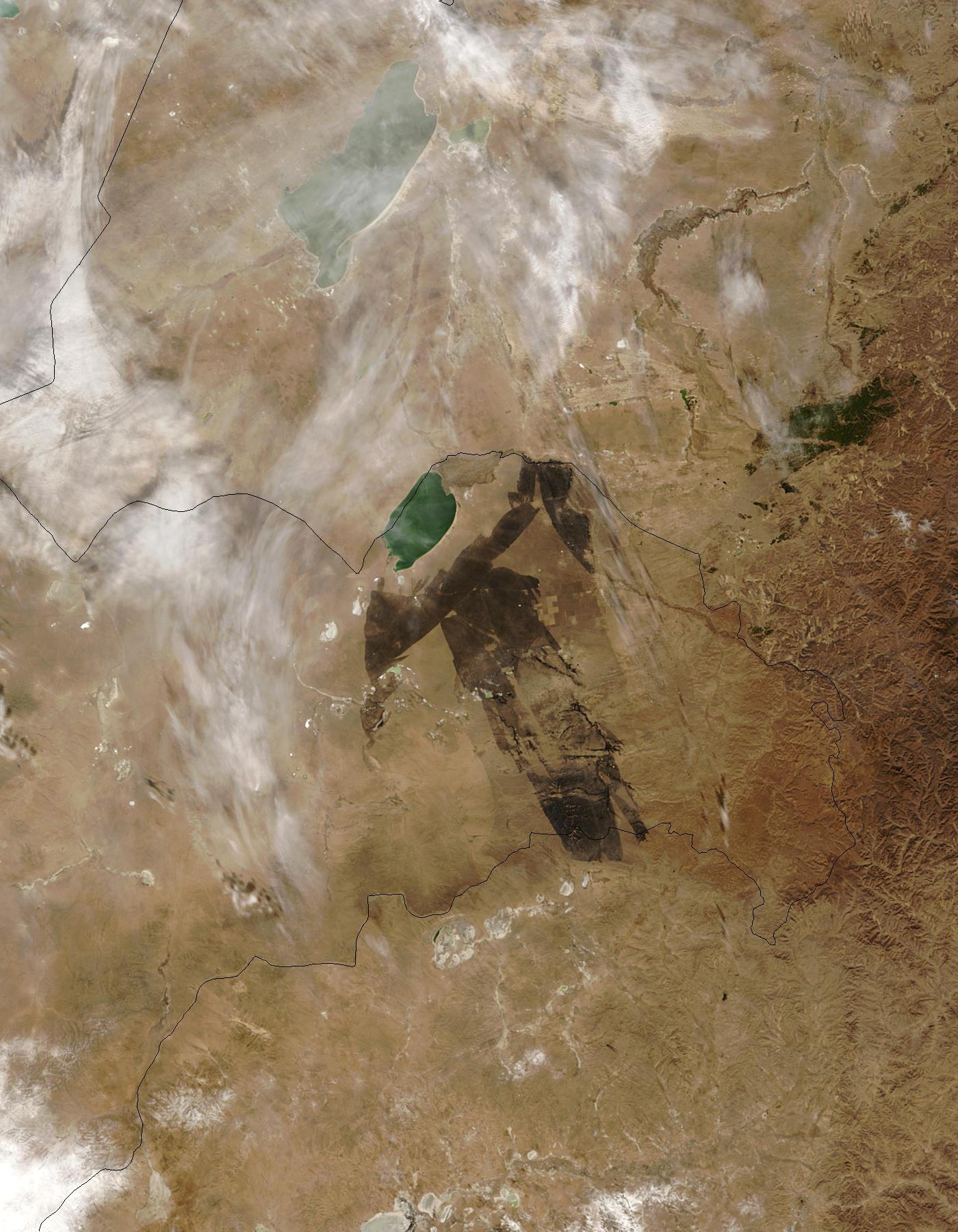 Burn scar in eastern Mongolia