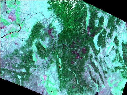 Burn Scar in Montana and Idaho