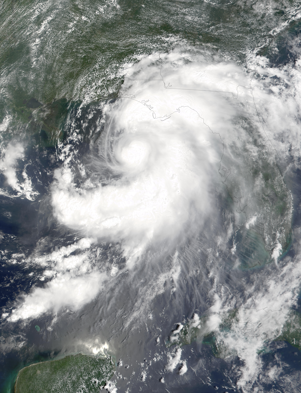 Ciclón tropical Barry en el golfo de México