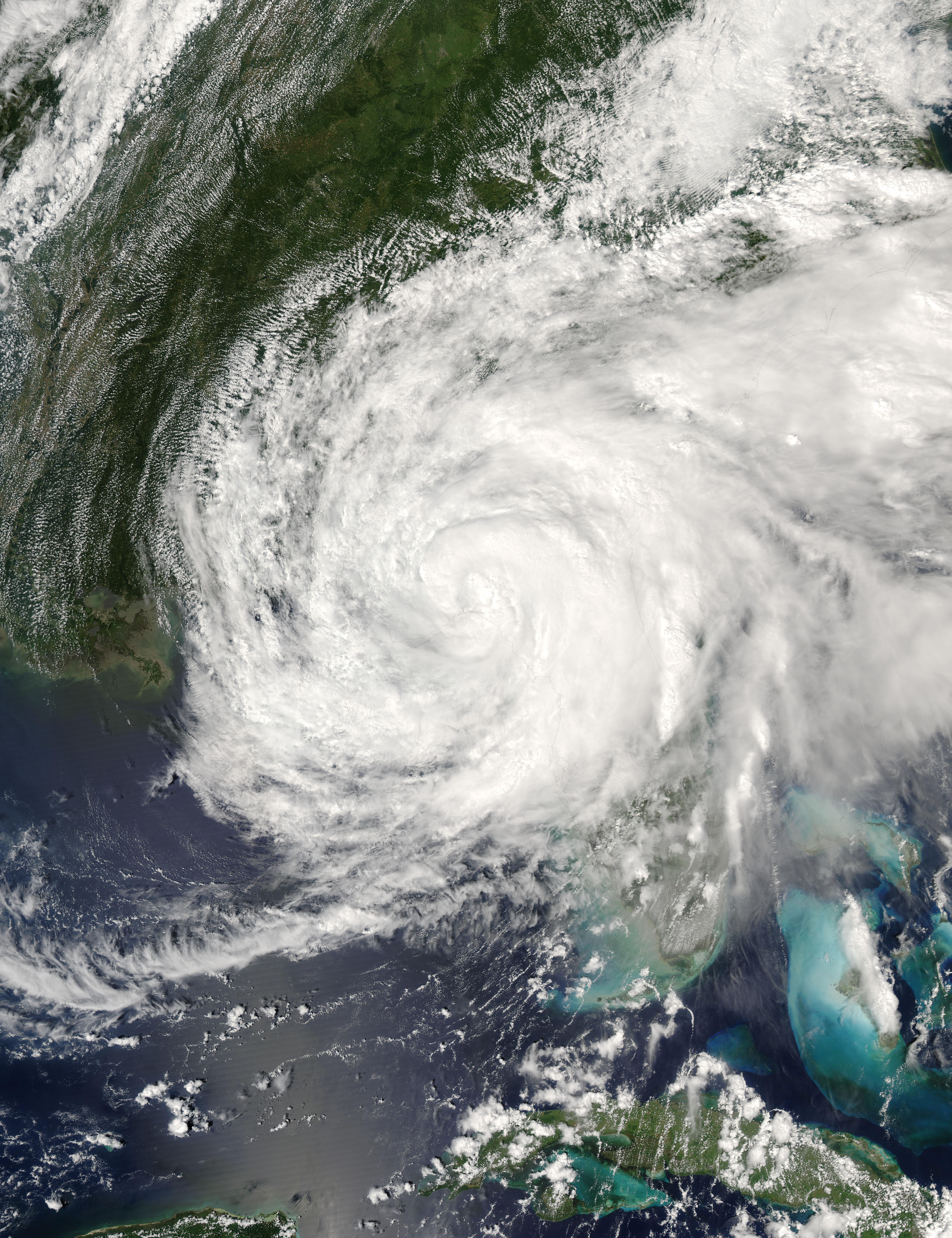 Ciclón tropical Frances (06L) encima de la Florida