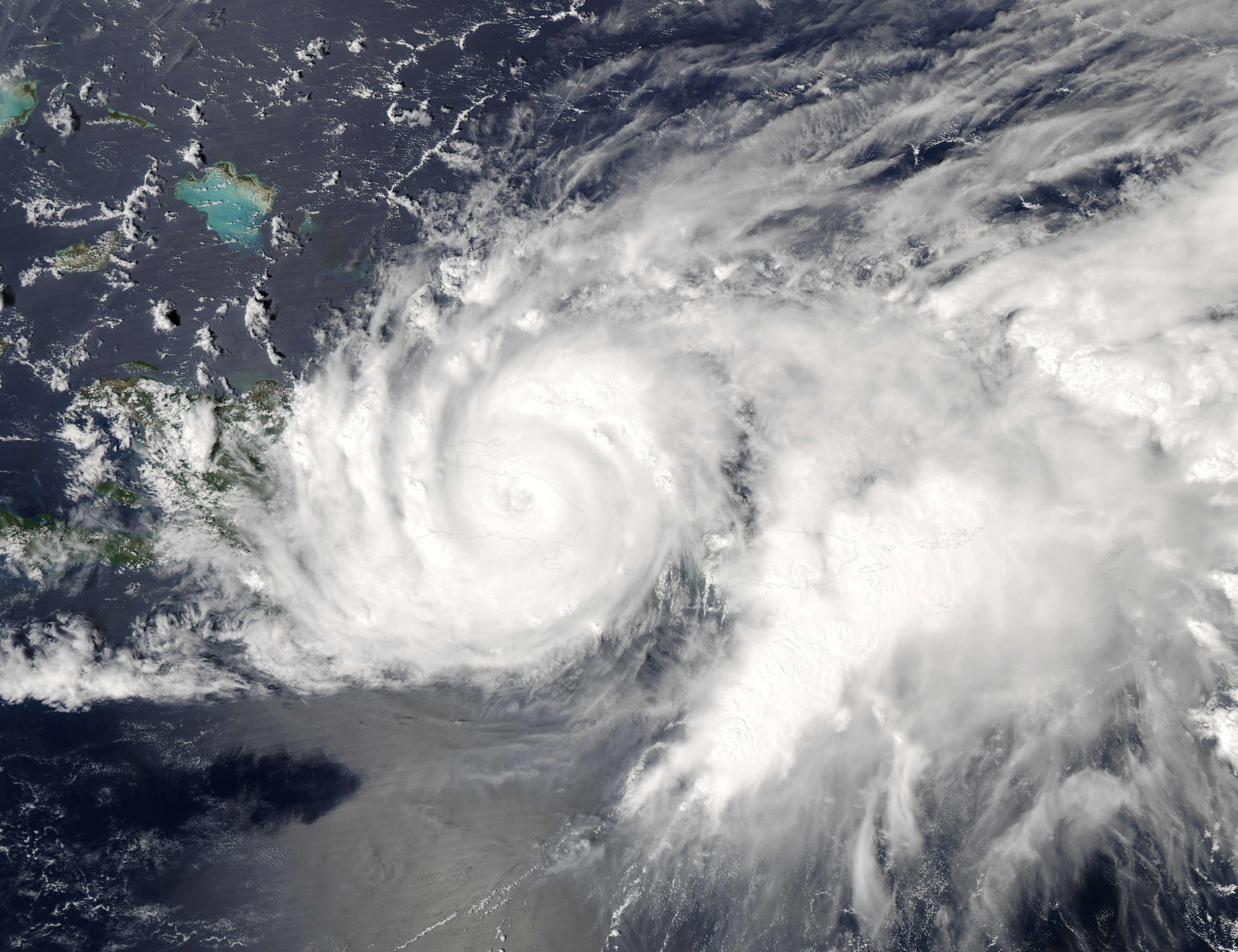 Tropical Storm Jeanne (11L) over the Dominican Republic