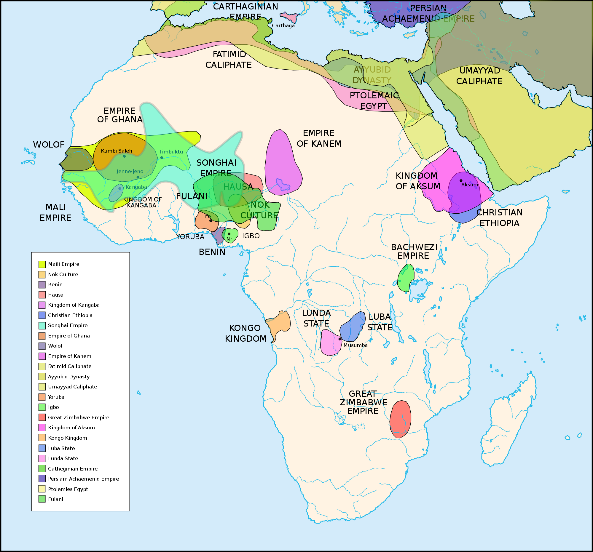 Mapa Colonial De Africa.Maps Of Pre Colonial Cultures Of Africa 500 Bc 1500 Ad