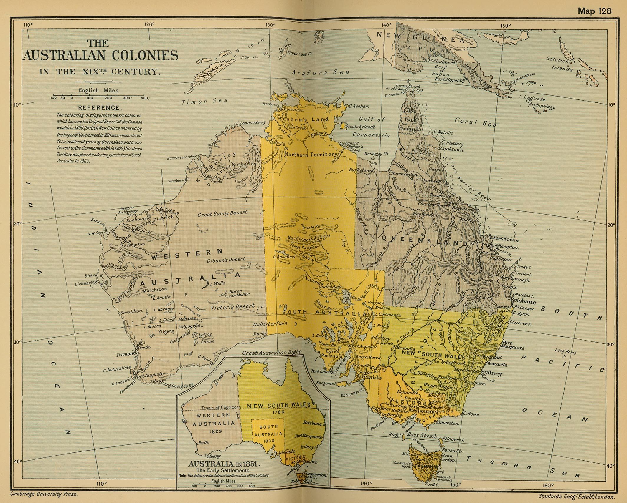 Colonias australianas en el siglo XIX
