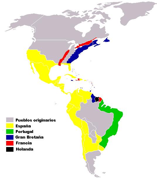 Colonias europeas en América siglos XVI-XVII