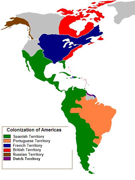 Colonización europea de América 1750