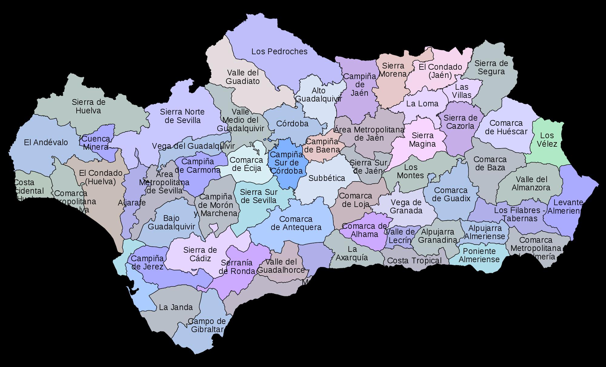 Comarcas de Andalucía 2007