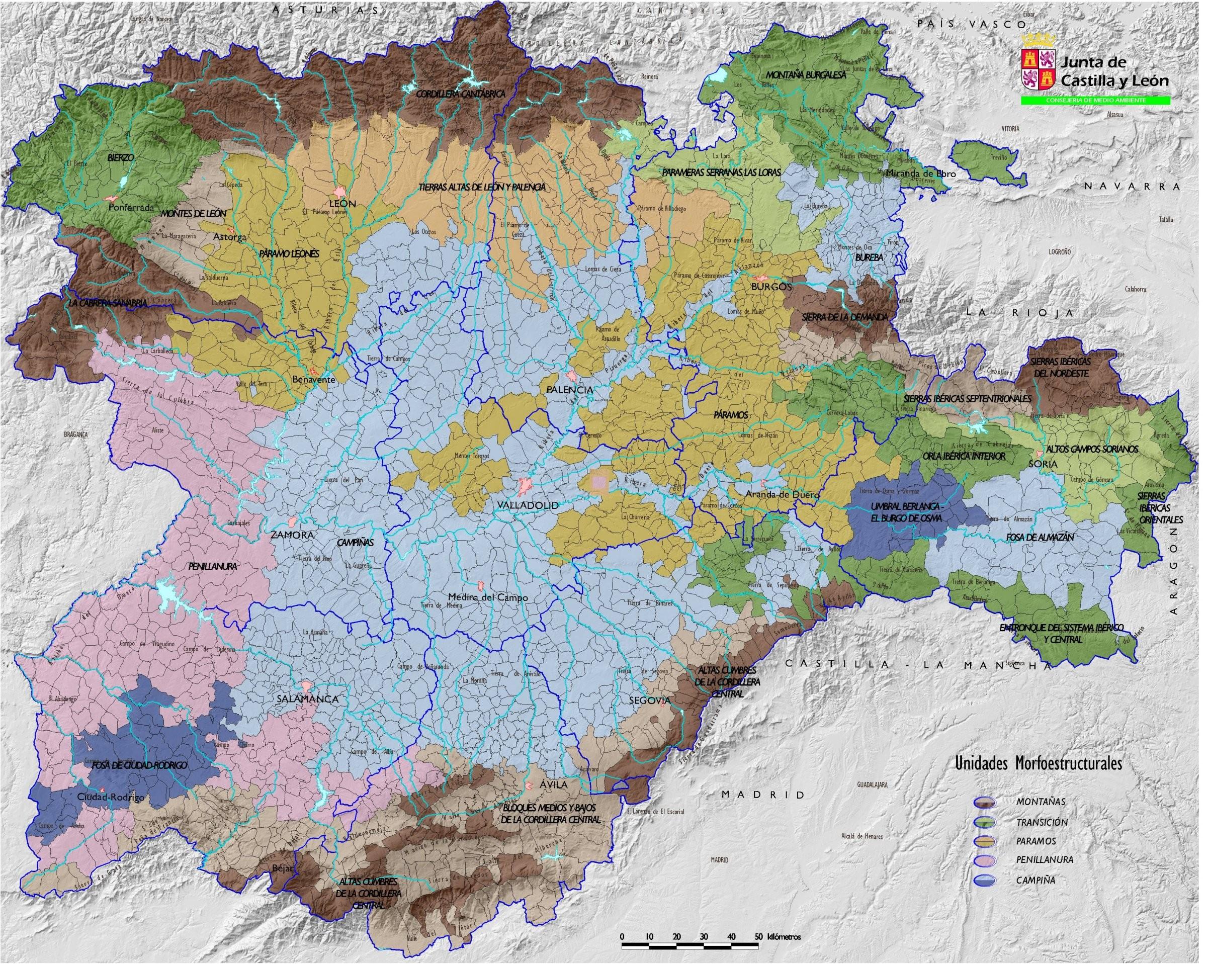 Castile and León comarcas