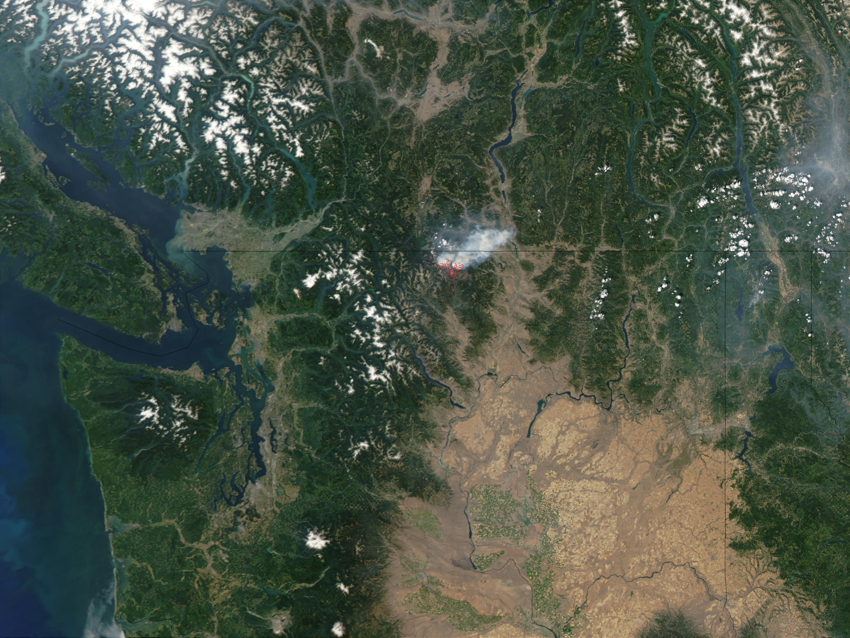 Complejo de incendios Fawn Peak, Washington