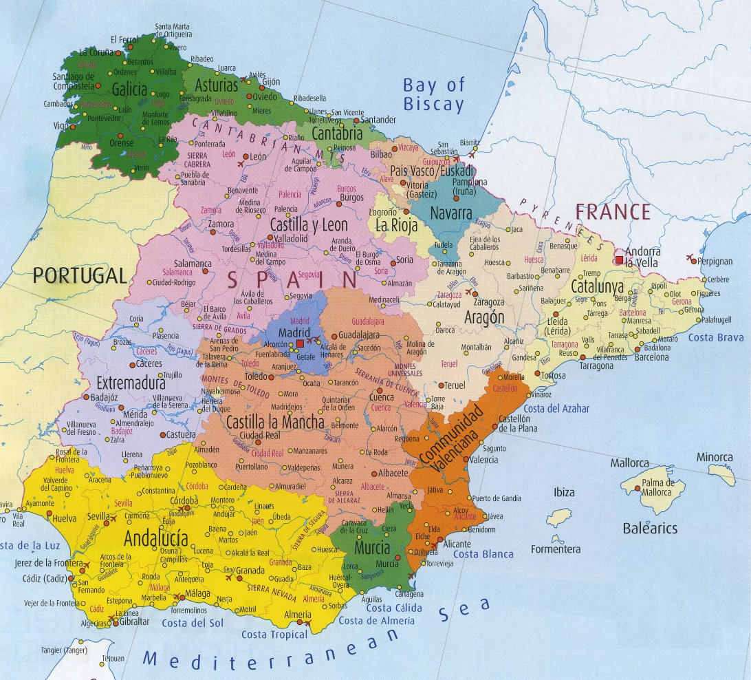 Spain Autonomous Communities