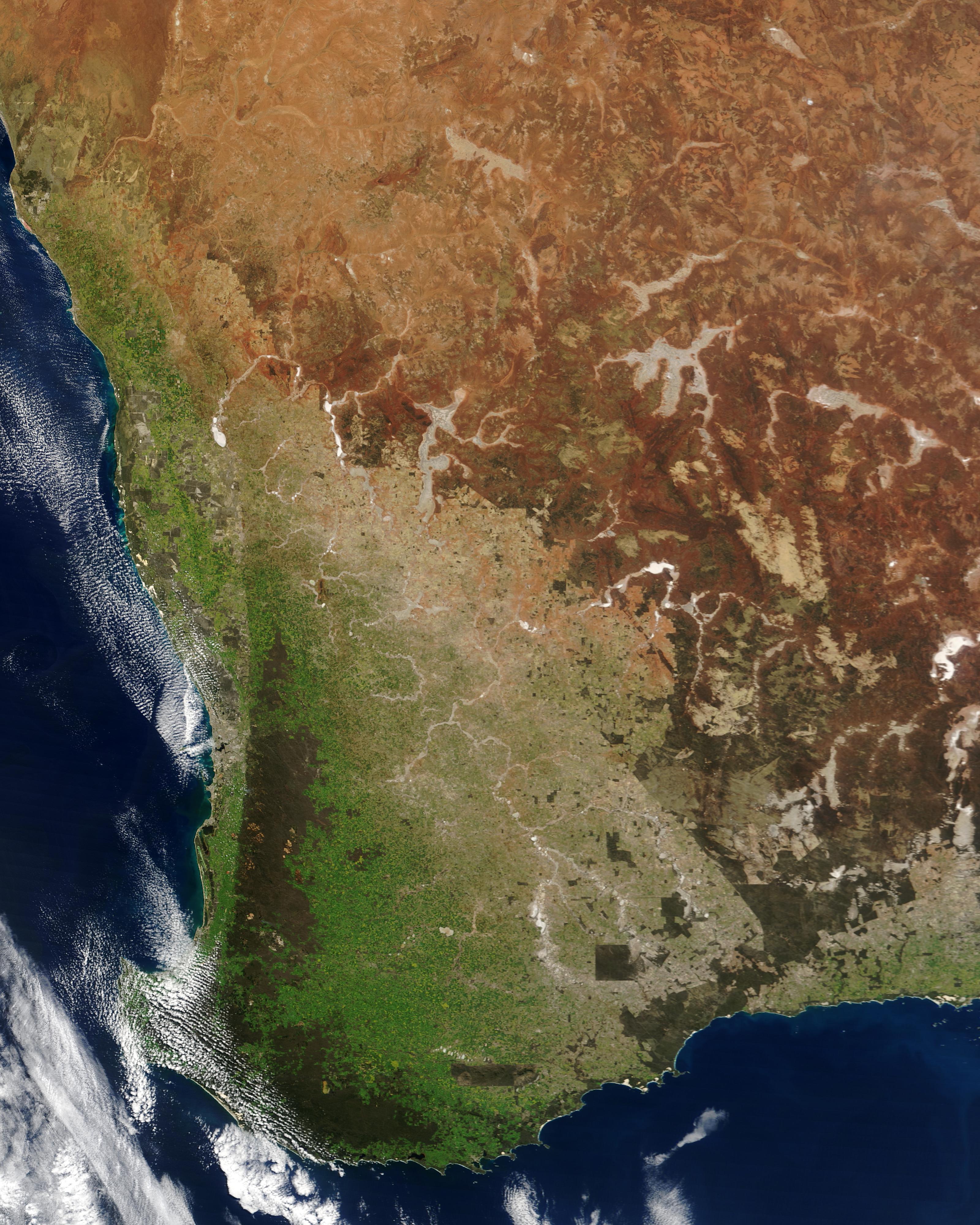 Condiciones de sequía en Australia suroccidental