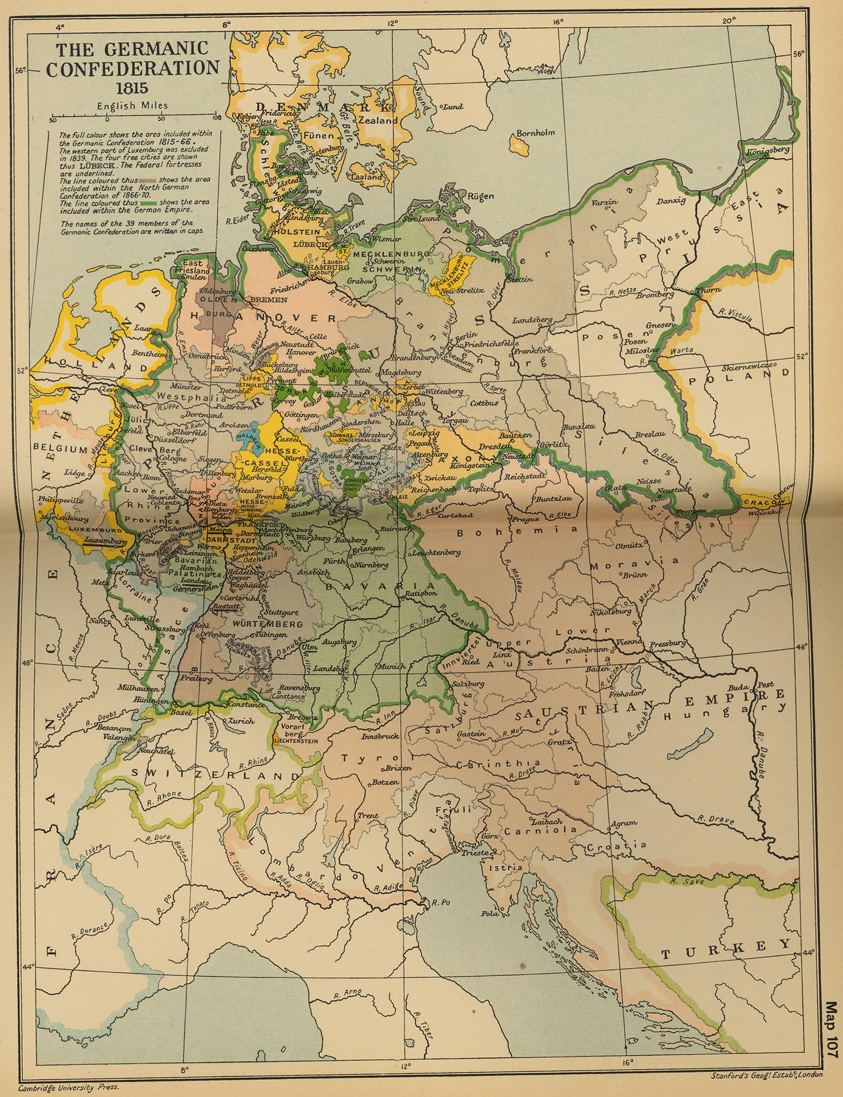 Confederación Germánica 1815