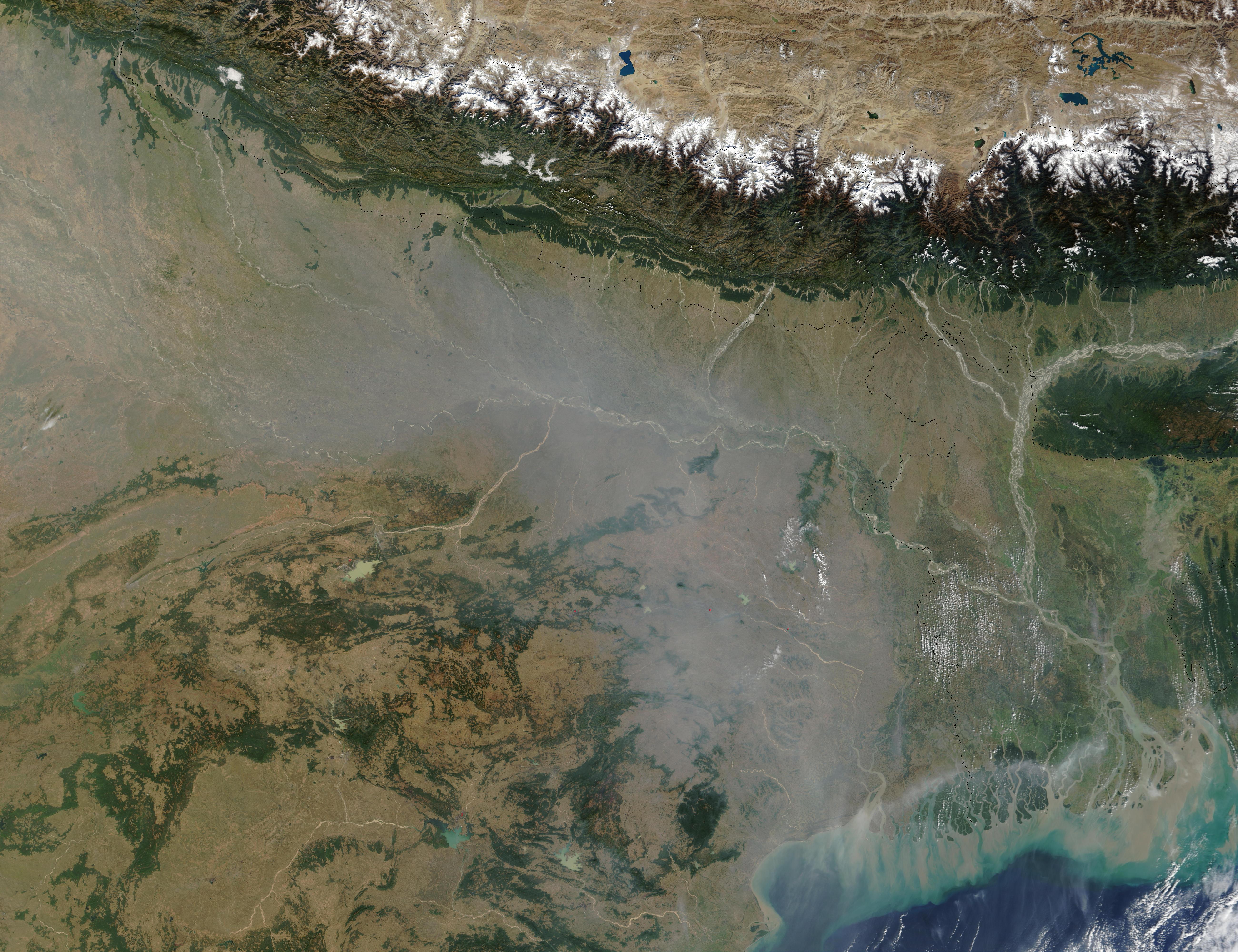 Contaminación en al noreste de India