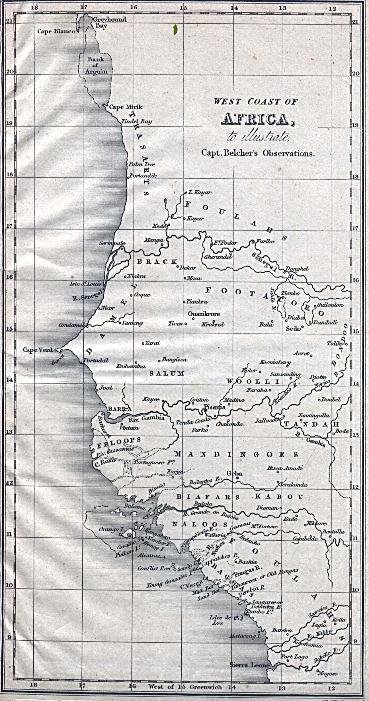 Africa West Coast Map 1832