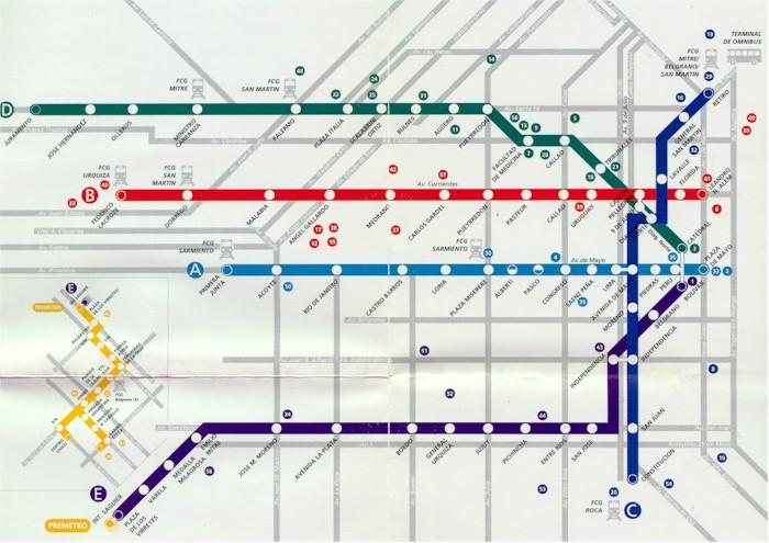 Croquis de Estaciones, Red de Subterráneos (Metro), Buenos Aires, Argentina