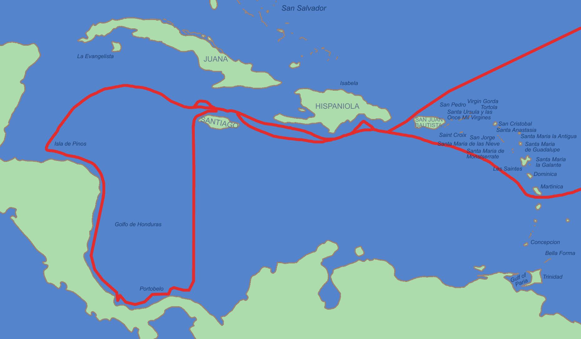 Cuarto viaje de Cristóbal Colón en 1502
