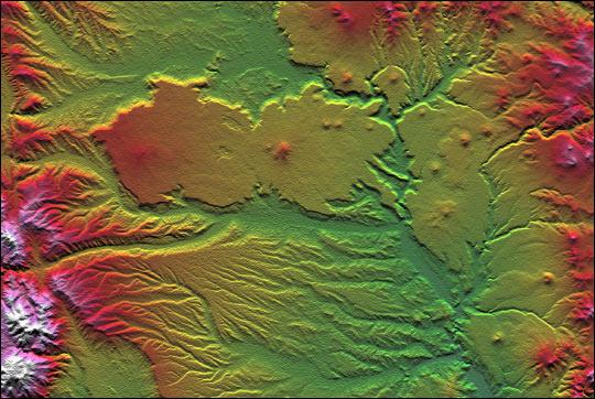 Datos de elevación de Las Bayas, Argentina