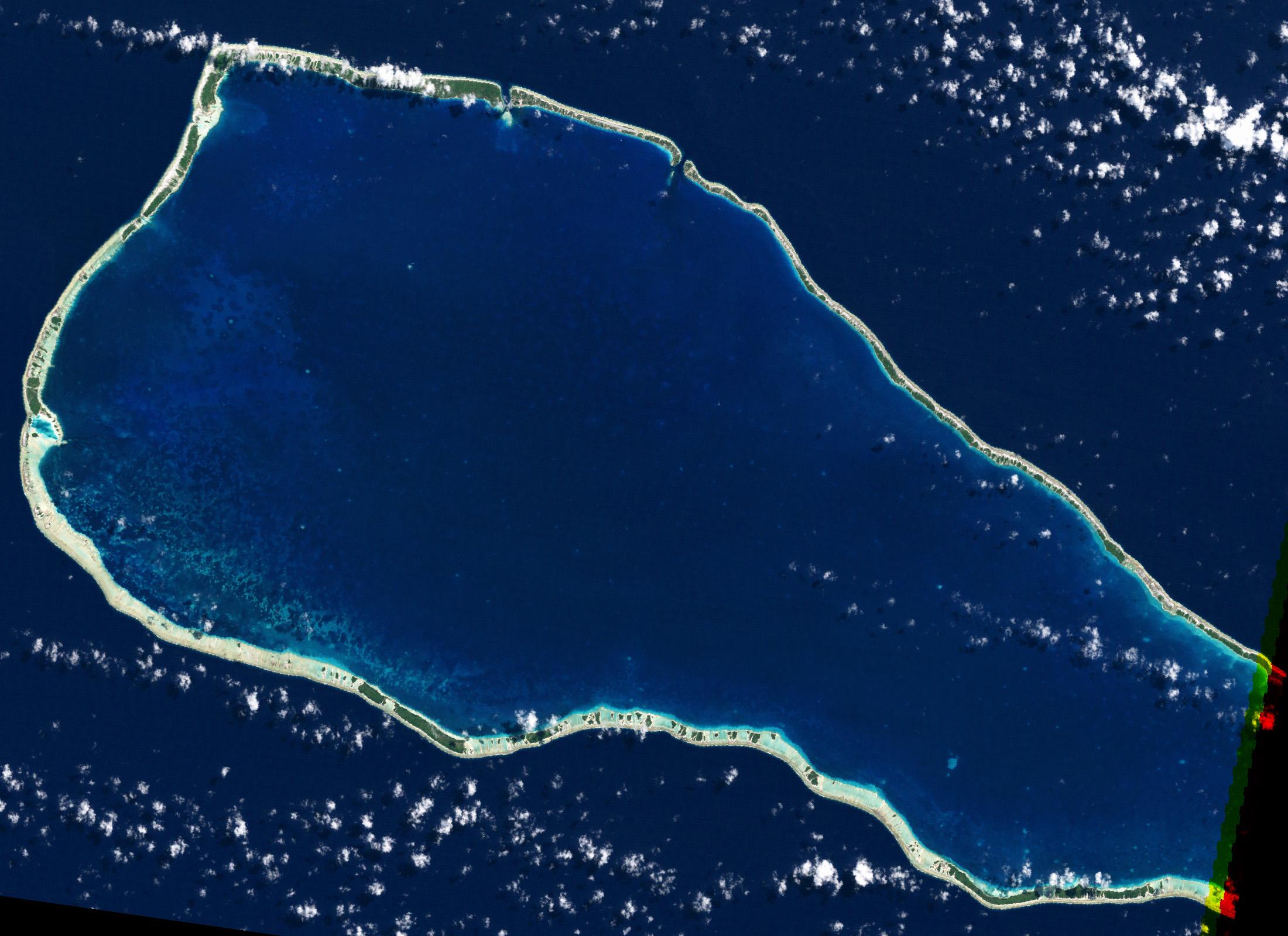 Decoloración de corales en Polinesia Francesa 1999