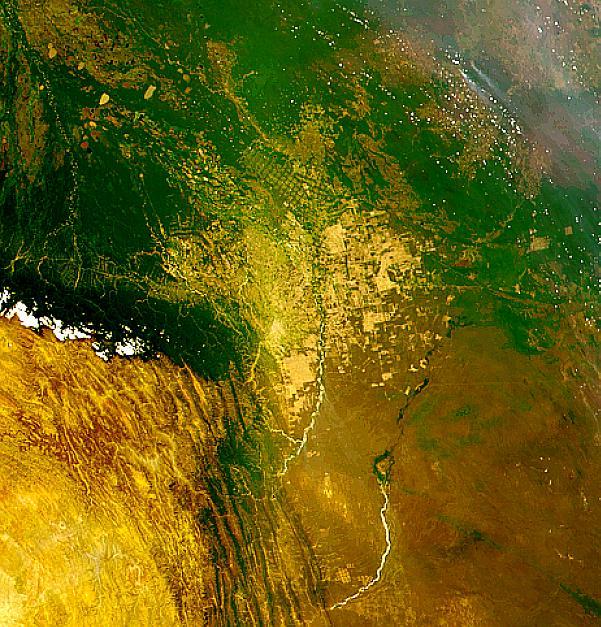 Deforestación y asentamiento en Bolivia