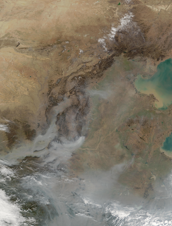 Densos aerosoles en China