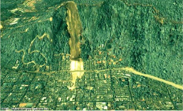 Derrumbamiento en Las Colinas, Santa Tecla, El Salvador