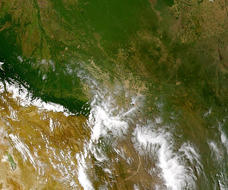 Desarrollo alrededor de Santa Cruz, Bolivia