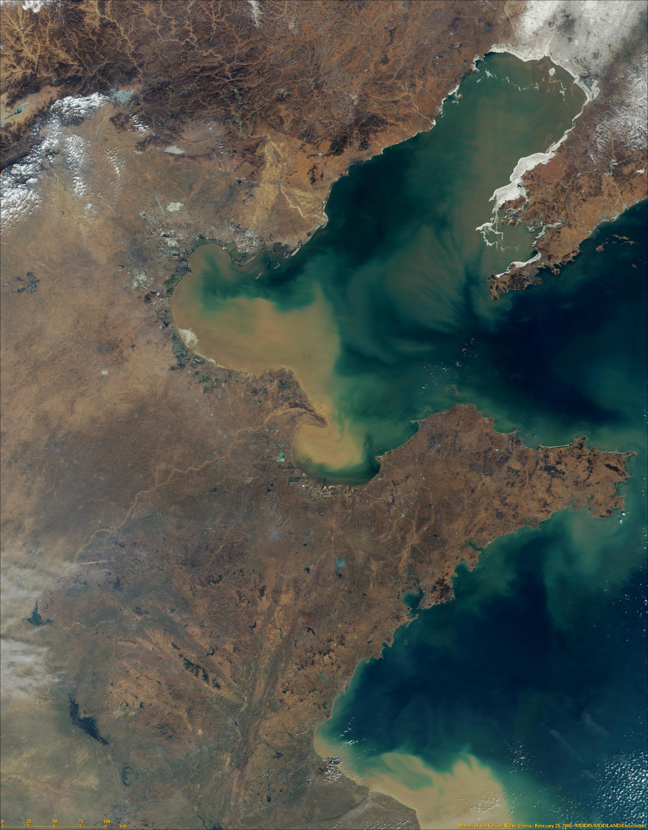 Desembocadura del río Amarillo, China