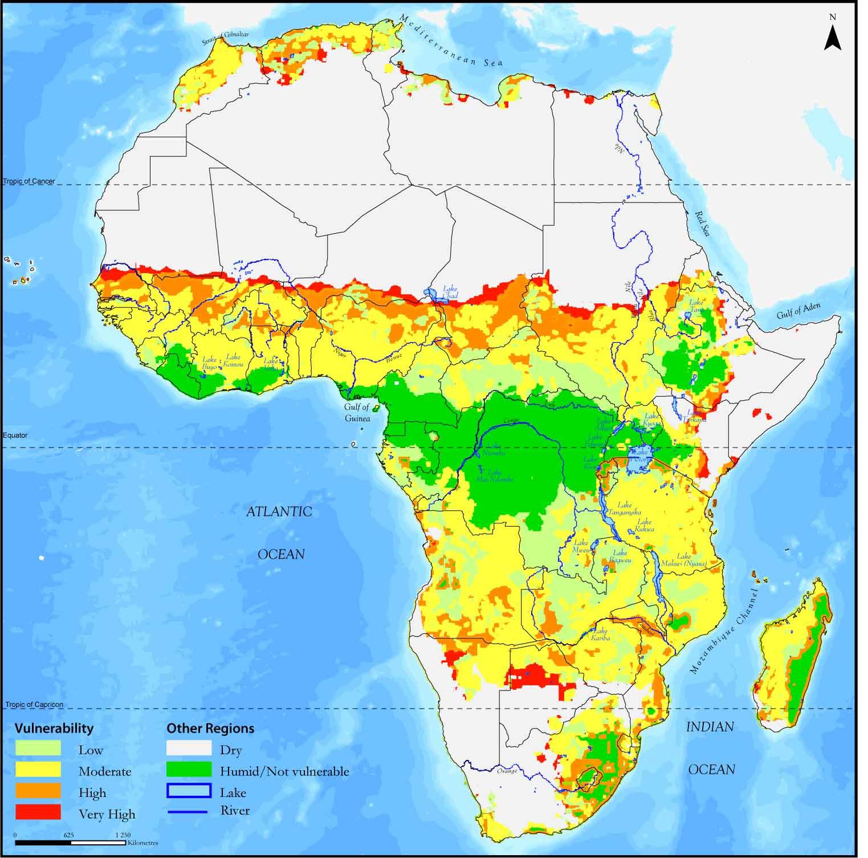 Desertificación en África