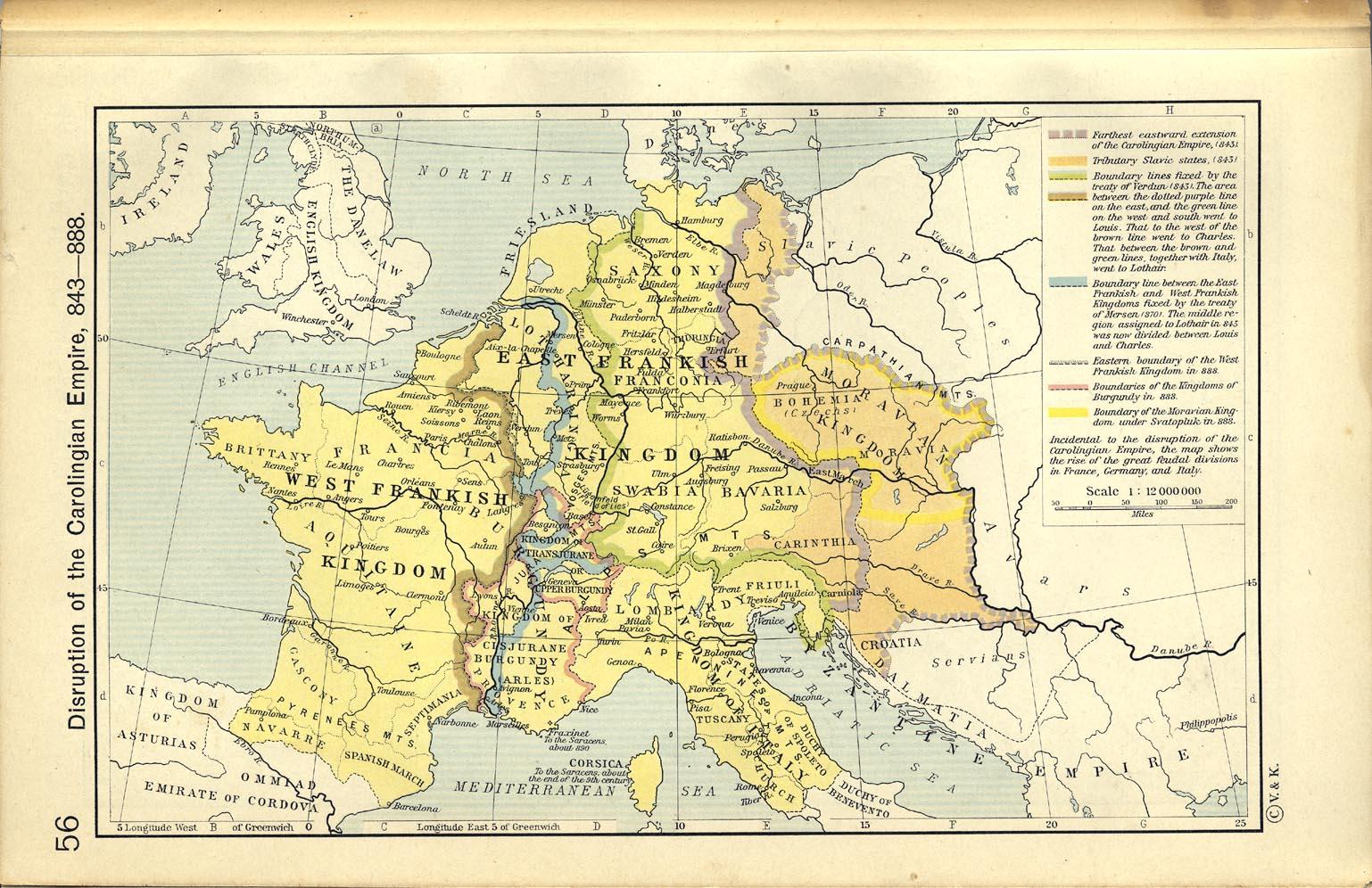 Disgregación del Imperio Carolingio, 843-888