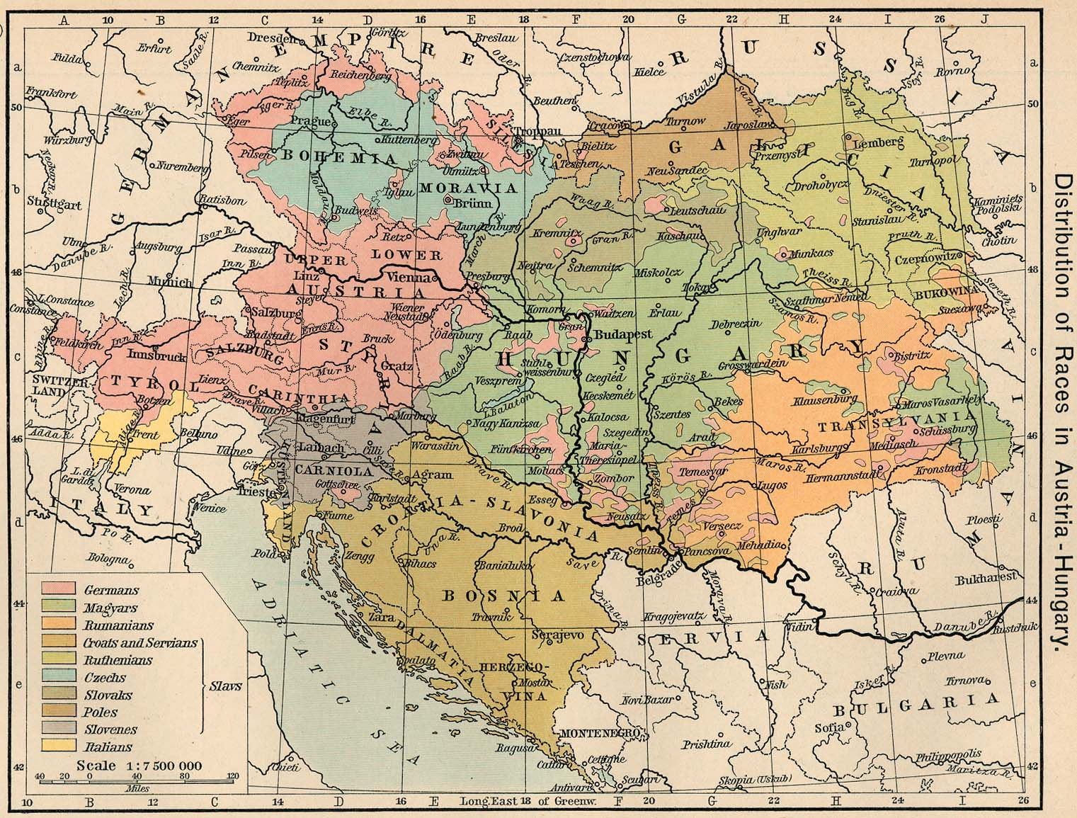 Distribution of Races in Austria-Hungary 1911