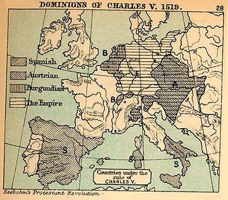 Dominios de Carlos V en Europa 1519