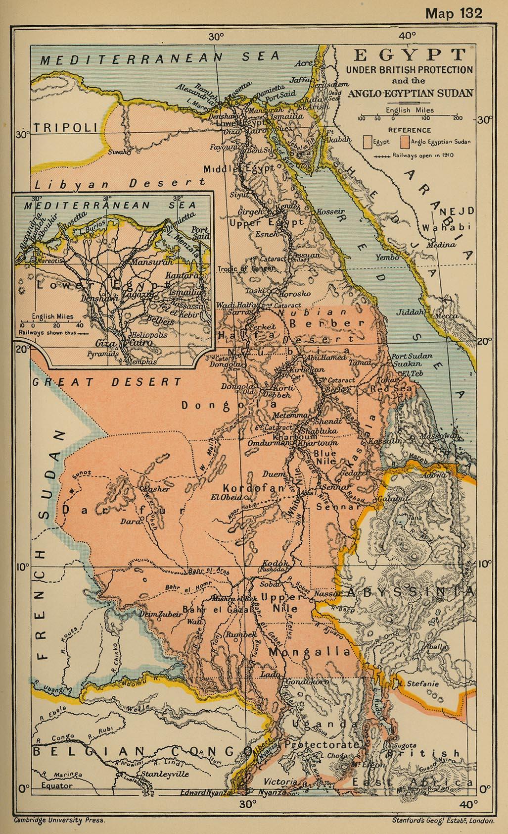 Egipto bajo la protección británica y el Sudán anglo-egipcio