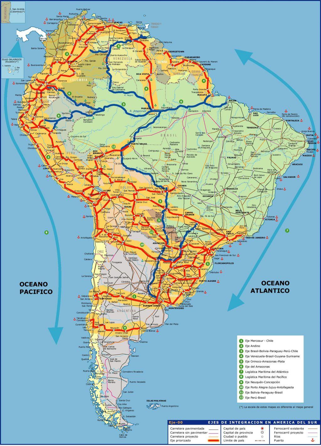 Ejes de integración en América del Sur 2006
