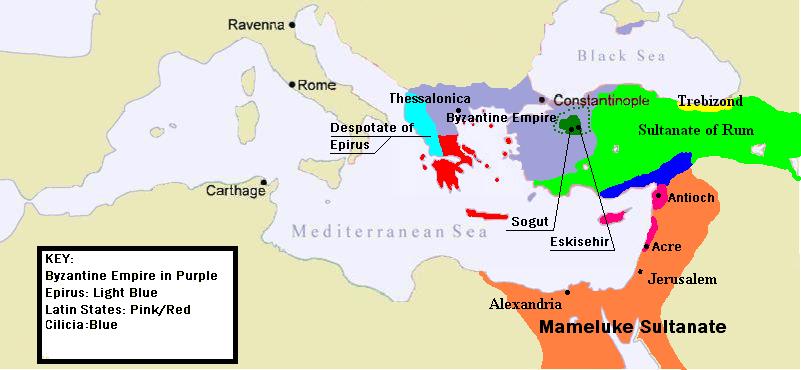 El Imperio Bizantino c. 1263