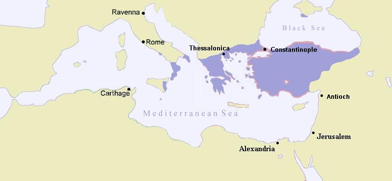 The Byzantine Empire around 867
