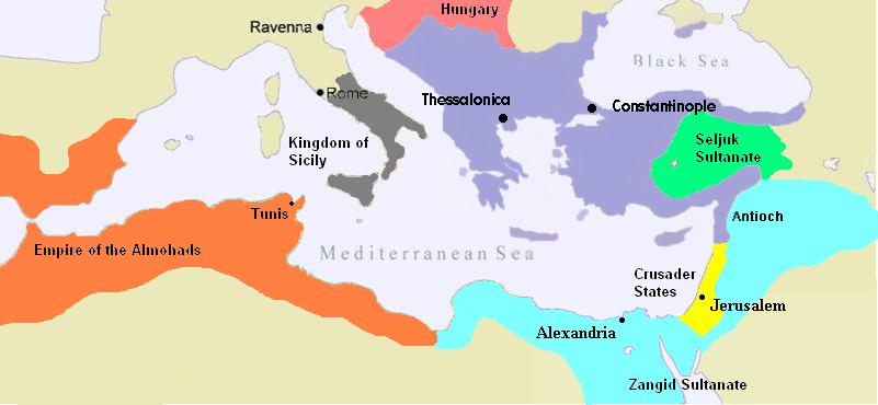El Imperio Bizantino en 1180