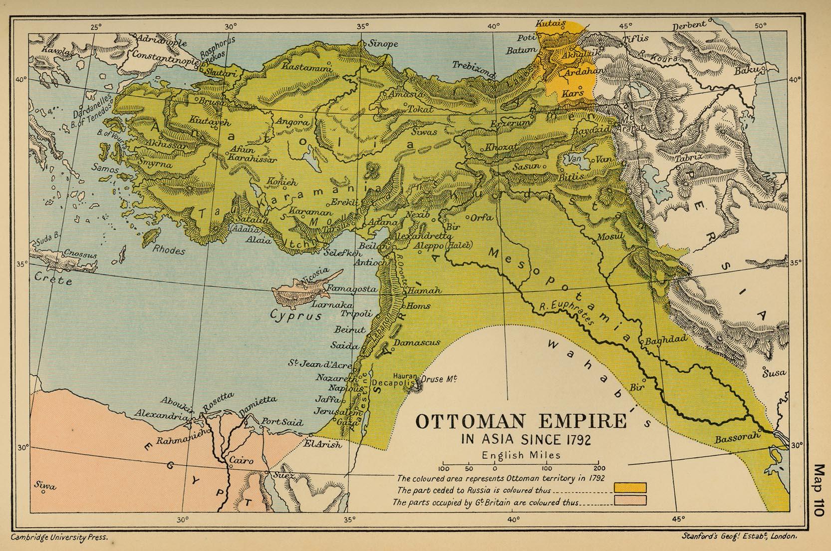 El Imperio Otomano en Asia desde 1792