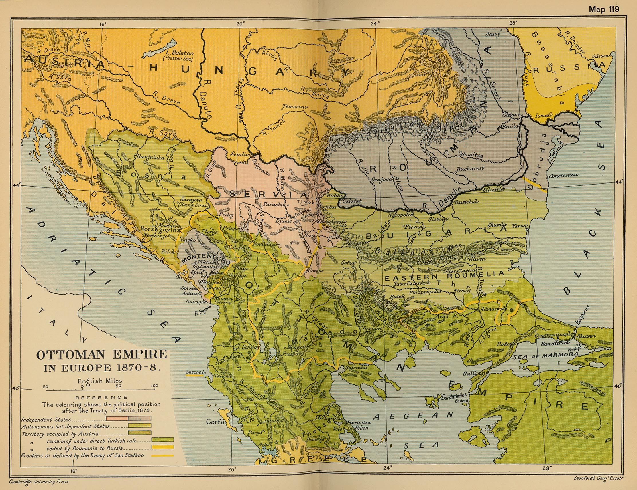 The Ottoman Empire in Europe 1870-1878