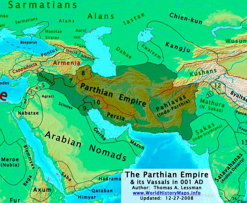 El  Imperio Parto o Arsácida 1 dC