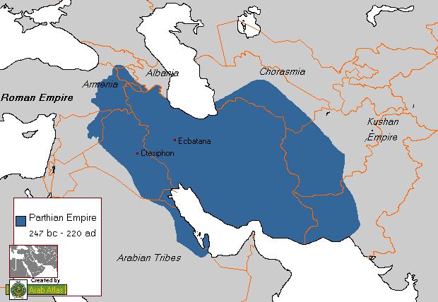 El Imperio Parto o Arsácida 248–224 aC